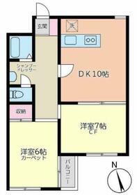 ベルハウス蒲田南・206号室の間取り