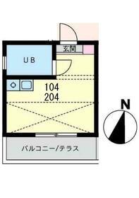 共恵アパート・104号室の間取り