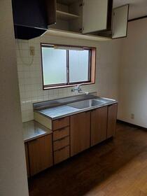 大網白里市南横川アパート 201号室のキッチン
