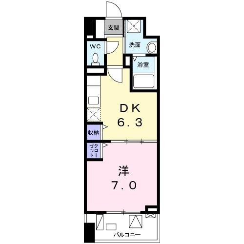 グレイス竹の塚・04060号室の間取り
