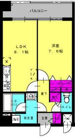コンフォート栗原Ⅱ・208号室の間取り