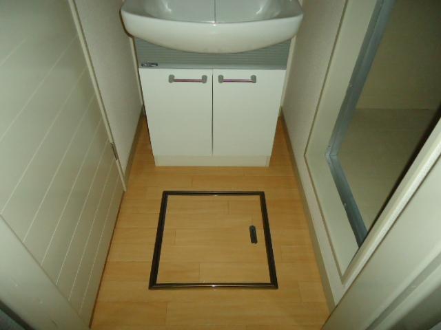 リバティはなみずきA・B 10102号室の洗面所