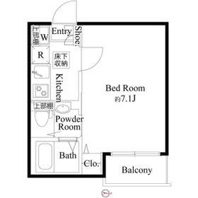 ソレイユ糀谷・0103号室の間取り