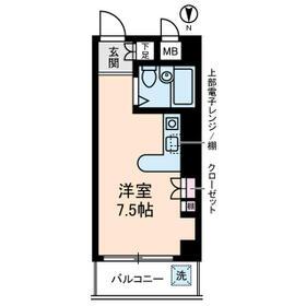 メゾンブランシュⅡ・0502号室の間取り