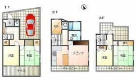 エバーライフ桜坂第2-43 43号室の間取り