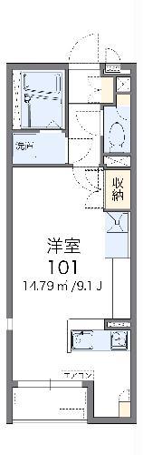 レオネクストRIN・103号室の間取り
