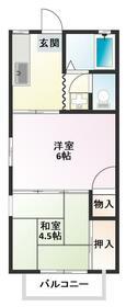 廻田ルネッサンス・203号室の間取り