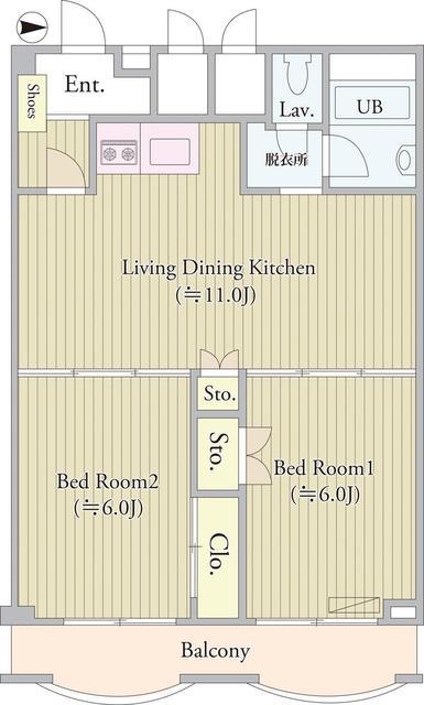 パークグレース新宿・1404号室の間取り
