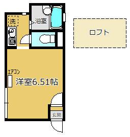 ロッシェル鹿沼台3号棟 205号室の間取り