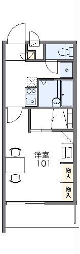 レオパレス太田八幡・205号室の間取り