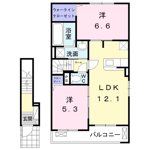 太田市アパート・02030号室の間取り