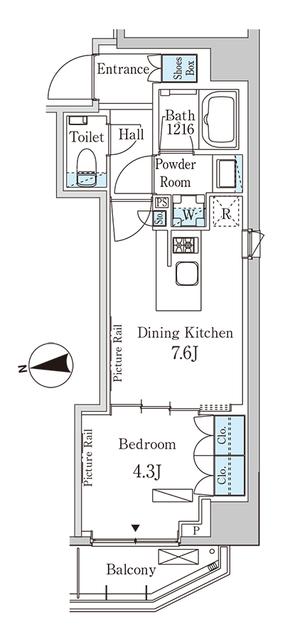 パークアクシス三番町・301号室の間取り