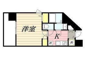 メゾン・ド・ヴィレ 渋谷・1106号室の間取り