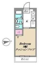 ドルフ国立(クニタチ)・206号室の間取り