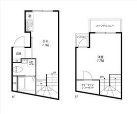 Minato Terrace・401号室の間取り