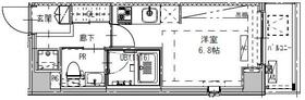 B CITY APARTMENT SHINAGAWA WEST・601号室の間取り