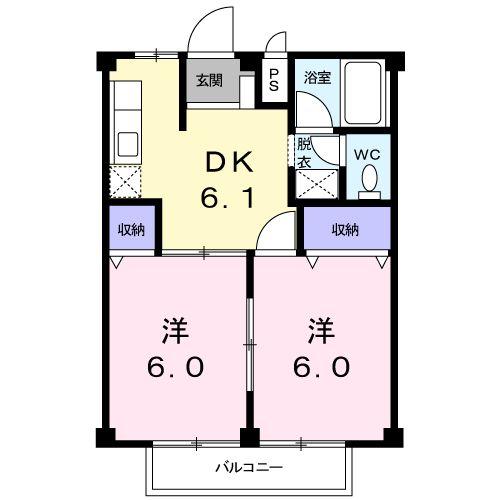 メゾン本郷・02020号室の間取り