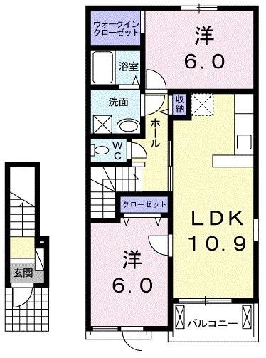 ピア-ニⅠ・02020号室の間取り