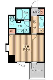 レガーロ御茶ノ水Ⅱ・0208号室の間取り