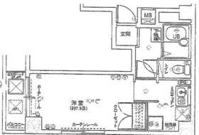 エクセリア五反田 103号室の間取り