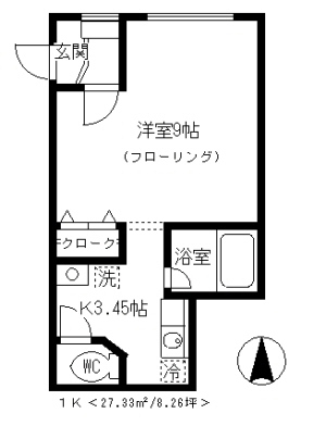 MITSUI&MIKA C号室の間取り
