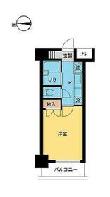 スカイコート笹塚駅前・802号室の間取り