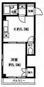 ベルフォーレ・K3・103号室の間取り
