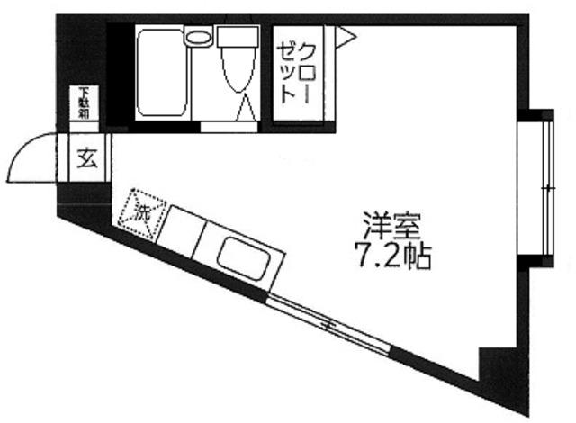 ディアコート世田谷・302号室の間取り