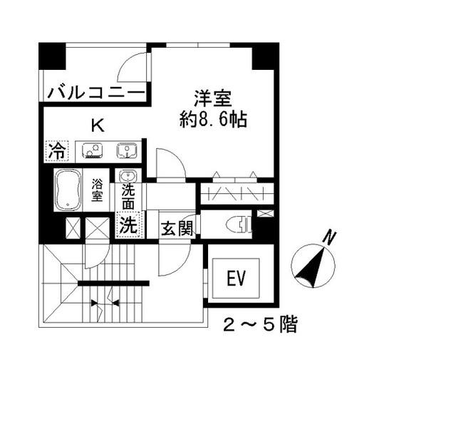 Azur勝どき4丁目・301号室の間取り