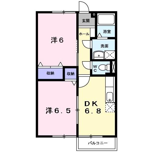 レジデンスイセヤマA・02030号室の間取り