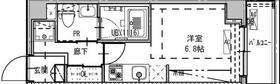 B CITY APARTMENT SHINAGAWA WEST・702号室の間取り