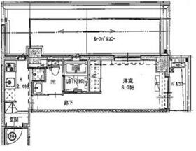 B CITY APARTMENT SHINAGAWA WEST・604号室の間取り