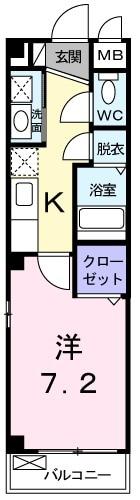 エル大田・01050号室の間取り