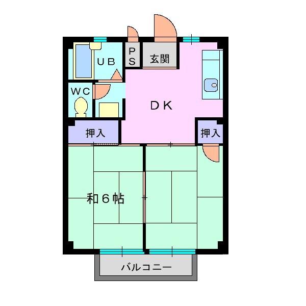 メゾンパールA・02030号室の間取り