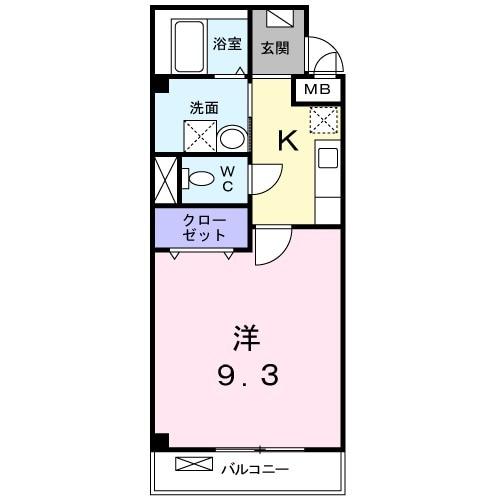 folding villa 02050号室の間取り