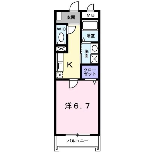 グラン・リーオ北伊丹Ⅱ・02050号室の間取り