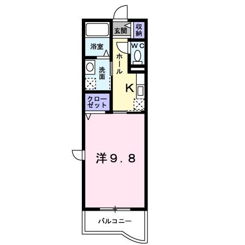 プロスペリタ・04040号室の間取り
