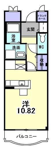 ル・ソレイユ桂川 01050号室の間取り