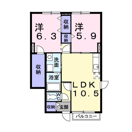カ-サ・グラン・リ-オ B棟・01020号室の間取り