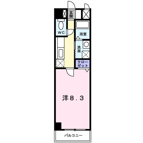 カーサⅤ・04060号室の間取り