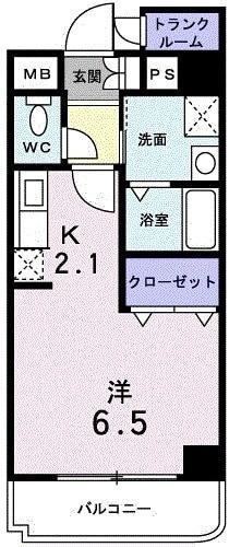 フローラ・02・03010号室の間取り