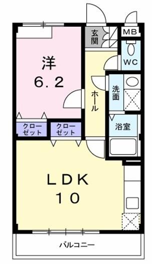 アンシャンテ 02030号室の間取り