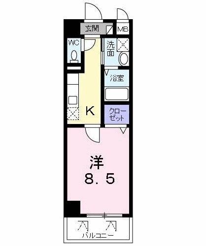 ジェルメ・02060号室の間取り