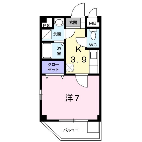 ハピネス浦江・04020号室の間取り