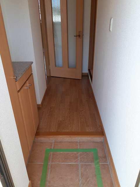 プラシードB 01010号室の玄関