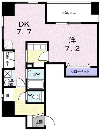 メゾン・日本橋浜町・06010号室の間取り