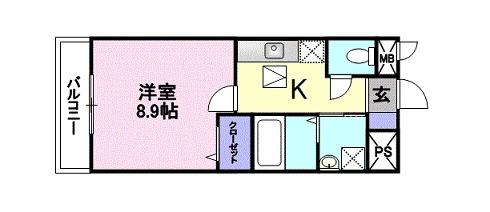 ヒラソル・ナツA・01010号室の間取り