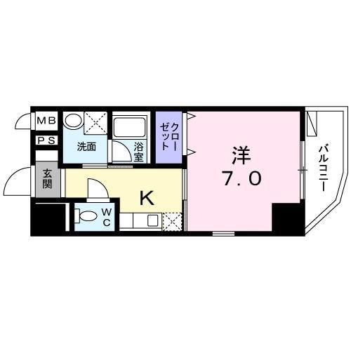 エスポワール 二子玉川・03040号室の間取り