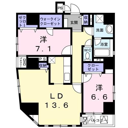 パラッツォコモド日本橋・06010号室の間取り