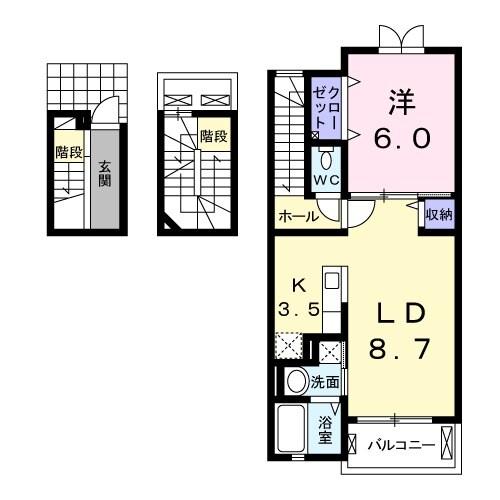 プラシード カーサ Ⅱ・03020号室の間取り